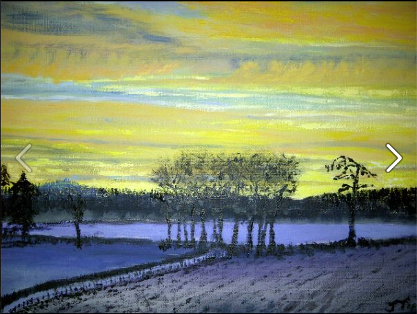 Shire Sunrise in Snow
