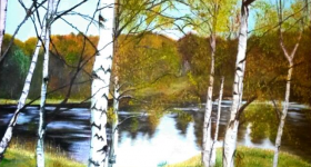 Autumn Silver Birches by Jay Topaz