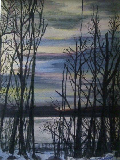 Winter Sun on Lintrathen Water